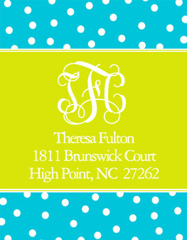 Address Stickers -Monogram Label