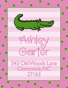 Address Stickers - Alligator