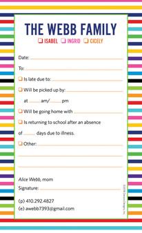 Excuse Pad-Primary Stripes