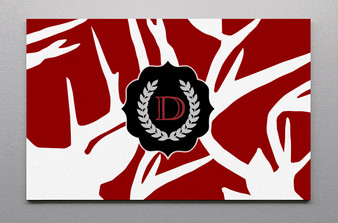 Canvas Wall Art-Abstract Deer Red
