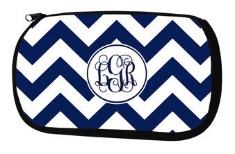 Cosmetic Bag-Navy Chevron