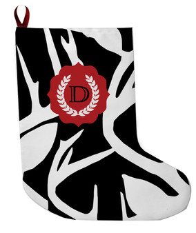 Stocking - Abstract Deer Black