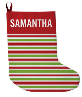 Stocking - Red and Green Stripe