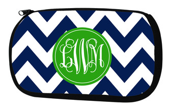 Cosmetic Bag-Navy Chevron Prep