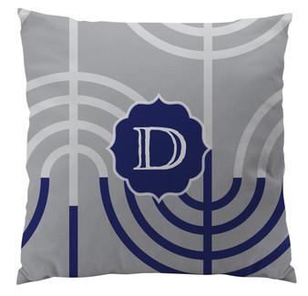 Pillows - Hanukkah Menorah Gray Large