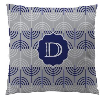 Pillows - Hanukkah Menorah Gray Small