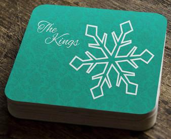 Paper Coaster - Snowflake Damask Large