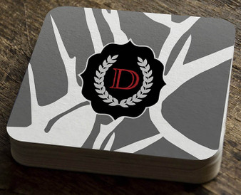 Paper Coaster - Abstract Deer Gray