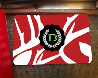 Doormat - Abstract Deer Red