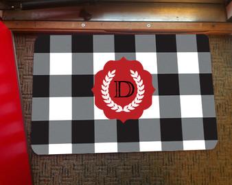 Doormat - Buffalo Plaid Black and White