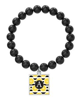 Lemon Stripes Black Onyx Bracelet