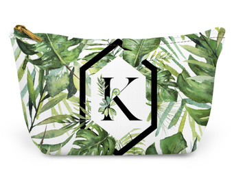 Accessory Zip T-Tote- Palm Paradise