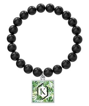 Palm Paradise Black Onyx Bracelet
