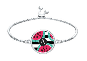 Watermelon Stripes Slide Bracelet