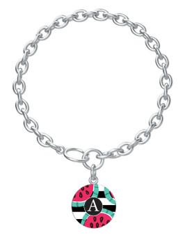 Watermelon Stripes Charm Bracelet