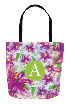 Simple Tote- Purple Floral