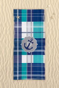 Beach Towel-Anchor's Away