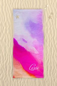 Beach Towel-Watercolor Wave