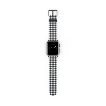 Apple Watch Band - Buffalo Plaid Black and White