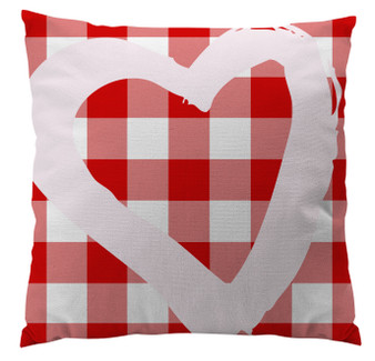 Pillows - Buffalo Plaid Red Heart