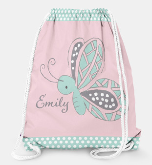 Drawstring Backpack- Little Butterfly