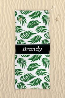 Beach Towel-Graphic Palm