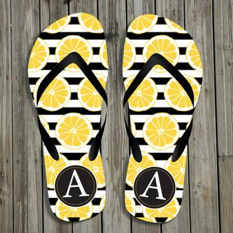 Flip Flops- Lemon Stripe