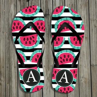 Flip Flops- Watermelon Stripe