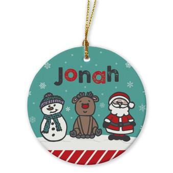 Ornaments - Frosty, Rudolph, Santa