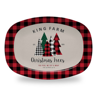 Microwavable Platter - Family Farm Trees