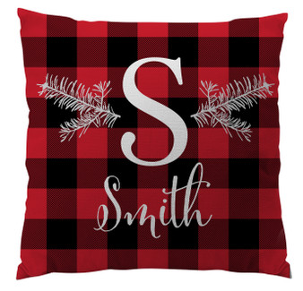 Pillows - Initial Red Plaid