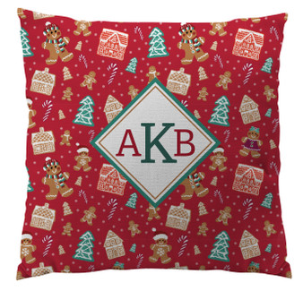 Pillows - Gingerbread Delight Red