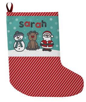 Stocking - Frosty Rudolph Santa