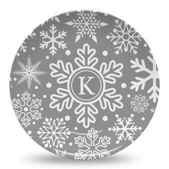 Microwave Safe Dinnerware Plate - Winter Snow
