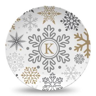 Microwave Safe Dinnerware Plate - Winter Snow White