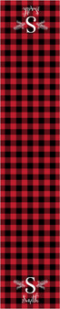Table Runners - Initial Red Plaid
