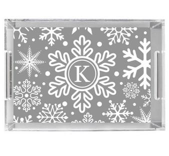 Acrylic Tray-Winter Snow