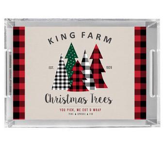 Acrylic Tray-Family Farm Trees