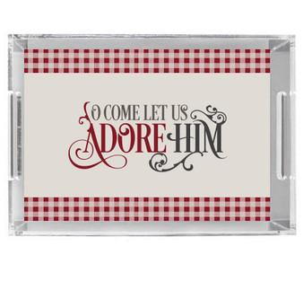 Acrylic Tray-Adore Him