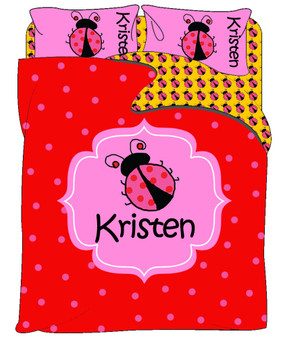 Custom Bedding - Ladybugs 2