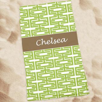 Beach Towel-Green Elinks