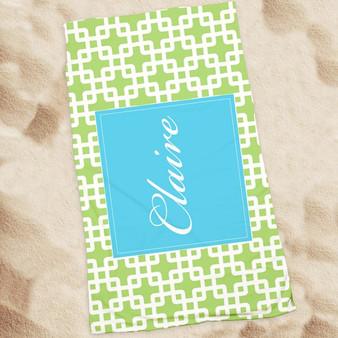 Beach Towel-Green Bamboo