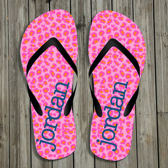 Flip Flops-Pink Leopard II