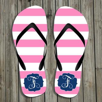 Flip Flops-Pink Stripes