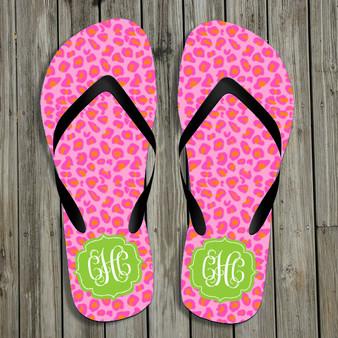 Flip Flops-Summer Leopard