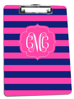 Clipboard-Navy Hot Pink Rugby