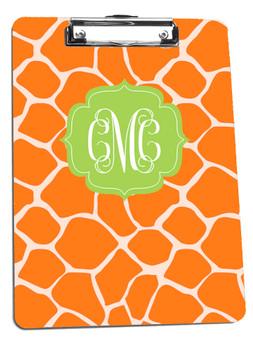 Clipboard-Orange Giraffe