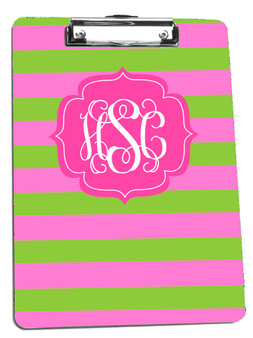 Clipboard- Pink and Lime Rugby