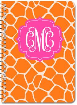 Composition Notebook-Orange  Pink Giraffe