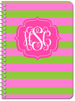 Composition Notebook-Lime Hot Pink Rugby